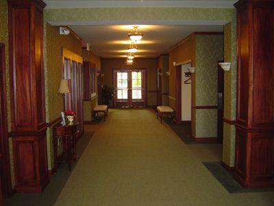 The main hallway is spacious and inviting